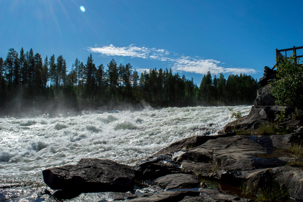 Starforsen rapid, Swedish Lapland.