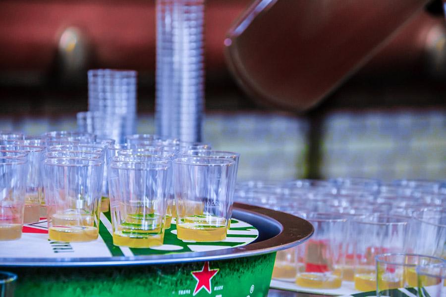Tasting of wort at the Heineken Experience.